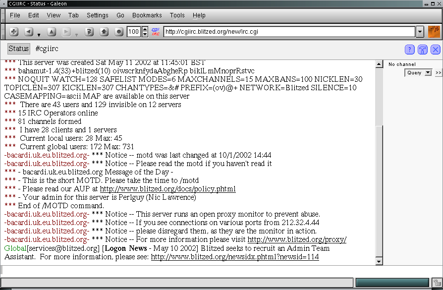 IRC Webclient